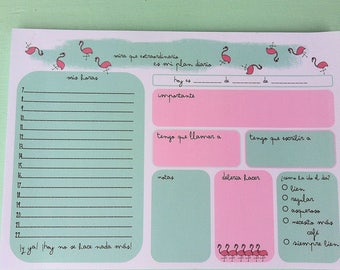 Daily Planner 'Pink Flamingo' (Din A5)