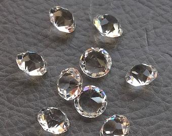 9  x  Antique 1940's Crystals 8.5 mm