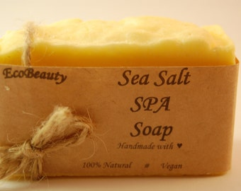 Sea Salt SPA Soap Homemade soap Handmade Soap Natural Soap vegan soap Salt soap Sea salt spa soap Gift Soap Gift for her Gift for mom