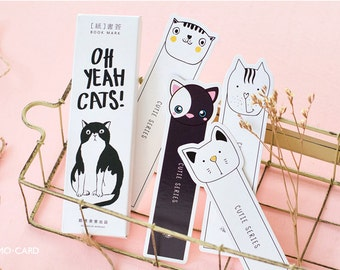 30 Pcs Cute Cat  bookmarks in 1 box