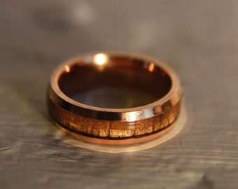 Rose Gold Wood Ring