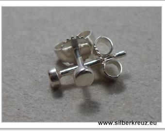 Mini-studs. Point. -925 Silver 3mm