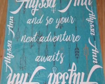 Personalized Quote Arrows Blanket