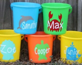 Personalized Beach Buckets/ Personalized Sand Buckets/ Personalized Summer Buckets/ Kid Buckets/ Personalized Buckets/Sand/ Beach/ Kids