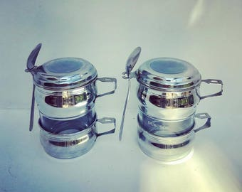 2  vintage french coffee maker single cup coffee filter french coffee filter single cup coffee maker silver plated french vintage
