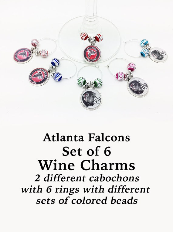 ATLANTA Wine or Bottle Charms, Set of 6  +Discounts & FREE Shipping*
