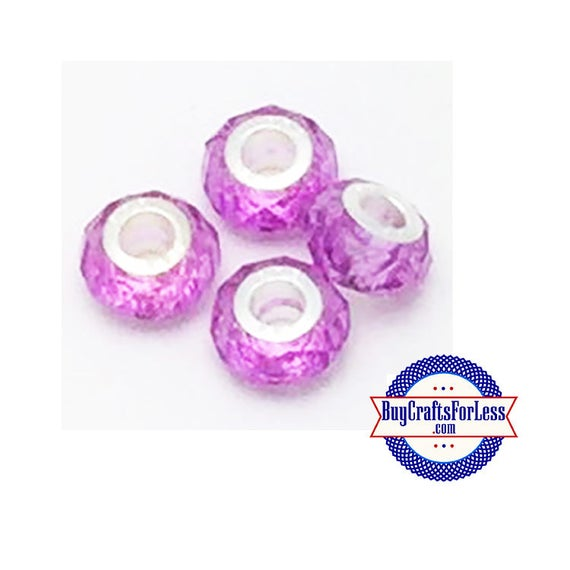 Acrylic Beads, LAVENDER, Multi-Faceted, 8 pcs  +Discounts & FREE Shipping*
