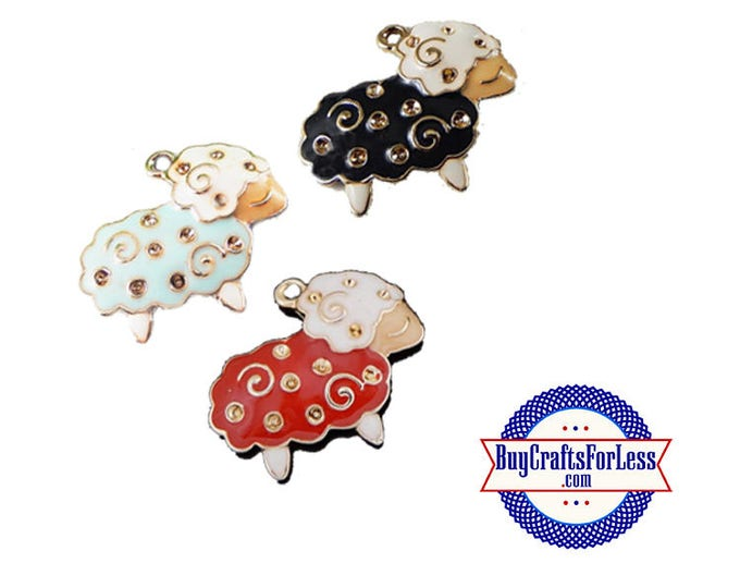 Mini SHEEP Charms, 3 pcs, 3 Colors +Discounts & FREE Shipping*