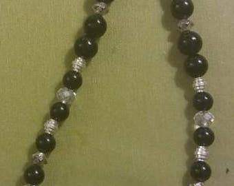 Black clarity necklace and earring set