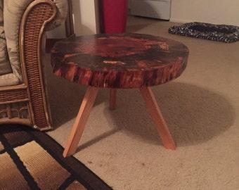 Norfolk Pine Live Edge Side Table