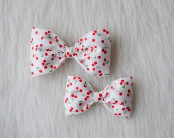 Cherry bow, Summer Bow, Cherries, Red, Red Bow