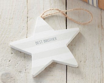 Brother Sign - Wooden Star Sign