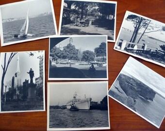 Seven vintage black and white photographs, 1950s taken in Australia