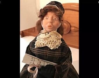 OOAK Polymer  clay 1850's Doll