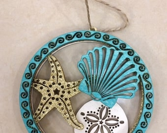 Jersey Shore Seashell Starfish Sand Dollar Ornament