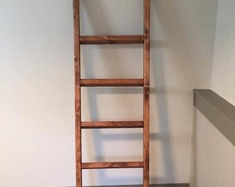 Rustic Blanket Ladder, Quilt Ladder,Farmhouse, Towel Ladder Rack, Blanket Ladder Rack, Decorative Wooden Ladder, Throw Blanket Ladder