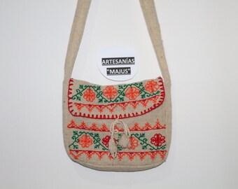 Backpack of wool embroidered hand's shape craft-bag Messenger shoulder bag backpack bag bag pouch quality Mexican