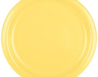 "25 (9"") Mimosa Round Paper Plate, Wedding Supplies, Wedding, Wedding Decor, Plastic Plates, Party Supplies, Paper Plates, Wedding, Decor"