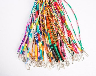 Threads of Hope Woven Braided Thread Fringe Lanyards! Handmade & Colorful!