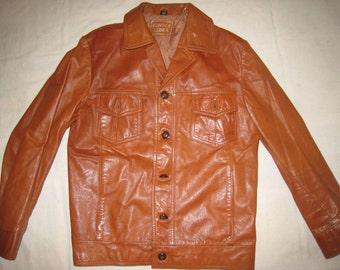 Vintage Cowboy Leather Jacket Size Medium US 42 EU 52