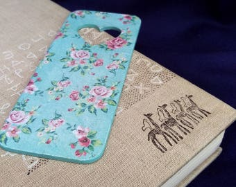 wooden bookmark decoupage bookmark Wood planner clip Book Accessories Gifts readers reading accessory flowers