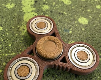 Brown gold clear Fidget Spinner - 3D Printed ABS