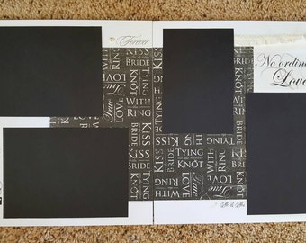 Pre-made 12x12 Wedding Scrapbook Pages