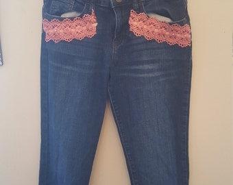 Embellished Jeans (Size-Kids 14)