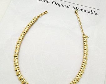 Gold and Rhinestone Trifari Necklace