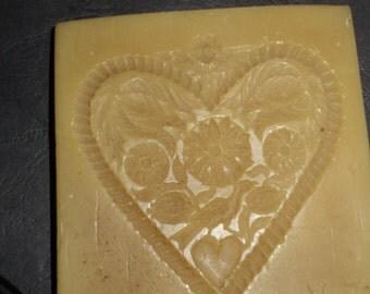 beeswax heart plate
