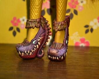 Monster high doll ooak repaint - Rosalie