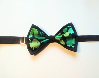 Double Bow Tie / Dog Formal Wear/ Wedding Attire / Irish Bow Tie  (Made to order)
