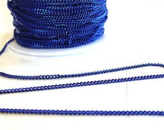 String flat mesh metallic blue color 1.5 mm - 1 meter