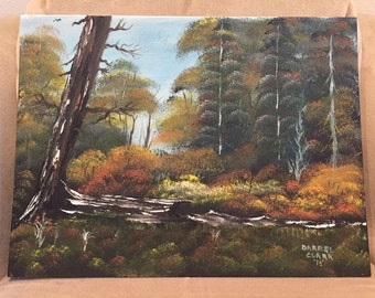 Oil painting of fallen tree on canvas 12 x 16 custom