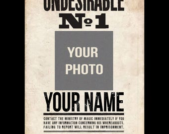 Personalised Harry Potter Undesirable No.1 Posters ( Wanted Poster )