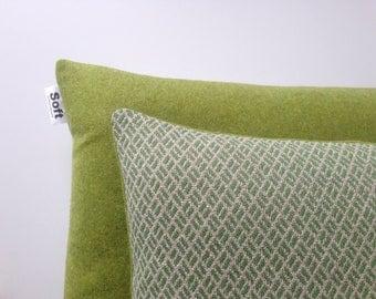 Decorative Two tone woven wool cushion
