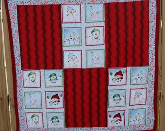 Snowman Quilt (Wall-hanging)