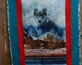 Wolf Quilt Wall Hanging
