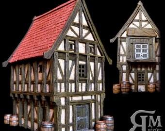 Medieval house 7 (ech 30mm, resin kit)