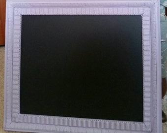 Lavender antique wood and plaster frame made into chalkboard