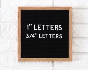 "3/4"" Letter Board Letter Set - 3/4 INCH Letter Set with 290 Characters"