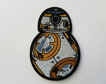 BB8 embroidery inspired patch, BB8 iron on inspired patch