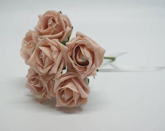 Wedding Posy - Perfect for Bridesmaids ( Vintage Peach )