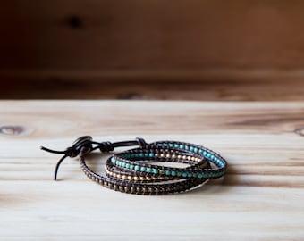 3 Rows Miyuki Wrap Bracelet