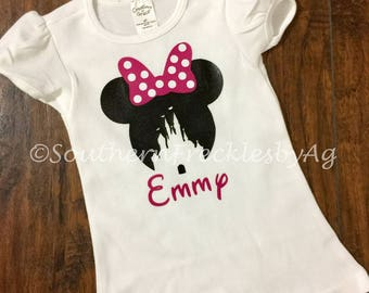 Minnie Mouse Girl's shirt, Minnie Mouse ears