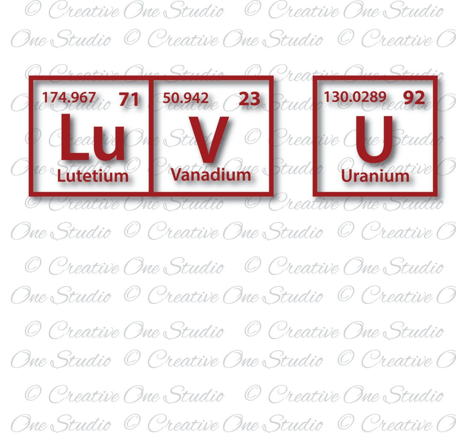 Luv u periodic table elements love you svg dxf eps studio3 pdf this is a digital file gamestrikefo Images