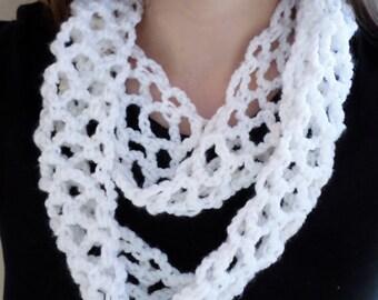 Crochet Infinity Scarf, Circle Scarf, Winter Fashion, Fall Accessory