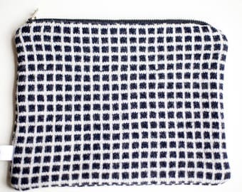 Lambswool Knitted Make Up Bag/Purse