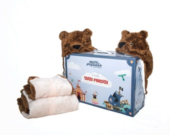 KIT BROWN BEARS - costumes from grizzly bears (1 adult + 1 child)