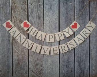 happy anniversary banner, wedding anniversary banner, 25th anniversary banner, any year anniversary banner, wedding anniversary sign